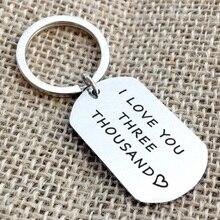I love You Three Thousand Keychain, Iron Men Keychain, Father Gift