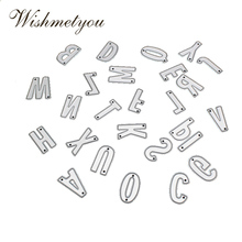 WISHMETYOU 26 Letters Capital Lowercase Combination Metal Cutting Dies Greeting Cards Crafts Scrapbook Embossing Manual