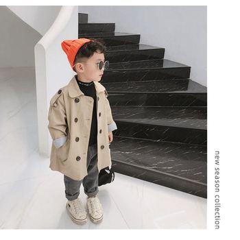 2021 chłopięce prochowce narzędziowe solidne dwurzędowe ubrania dziecięce 0-7 lat dziecięce dziecięce wiosenne i jesienne płaszcze casualowe tanie i dobre opinie vangull CN (pochodzenie) CZTERY PORY ROKU 25-36m 4-6y 7-12y Chłopcy Stałe moda REGULAR POLIESTER Wykładany kołnierzyk