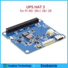 פטל Pi 4 דגם B/3B +/3B UPS כובע 3 עם סוג C, ליתיום סוללה כוח מקור אספקת הרחבת לוח (ללא סוללה)