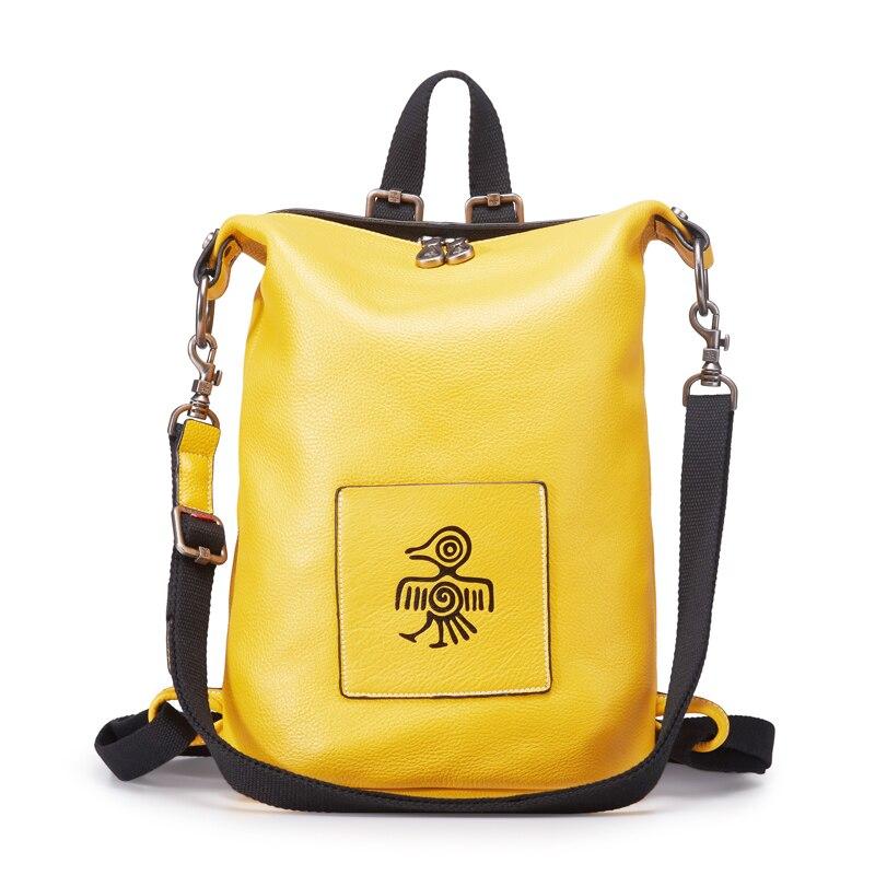 Orabird роскошный Повседневный женский рюкзак из коровьей кожи, Многофункциональный Большой Вместительный мягкий женский рюкзак, модная городская сумка через плечо для девочек