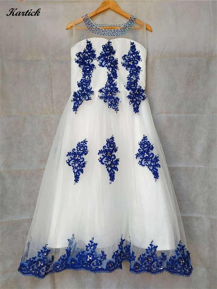 Gorgeous Flower Girl Dresses with Appliques Girls Kids/Children Dress for Wedding A-Line Birthday Communion Party Pageant Dress