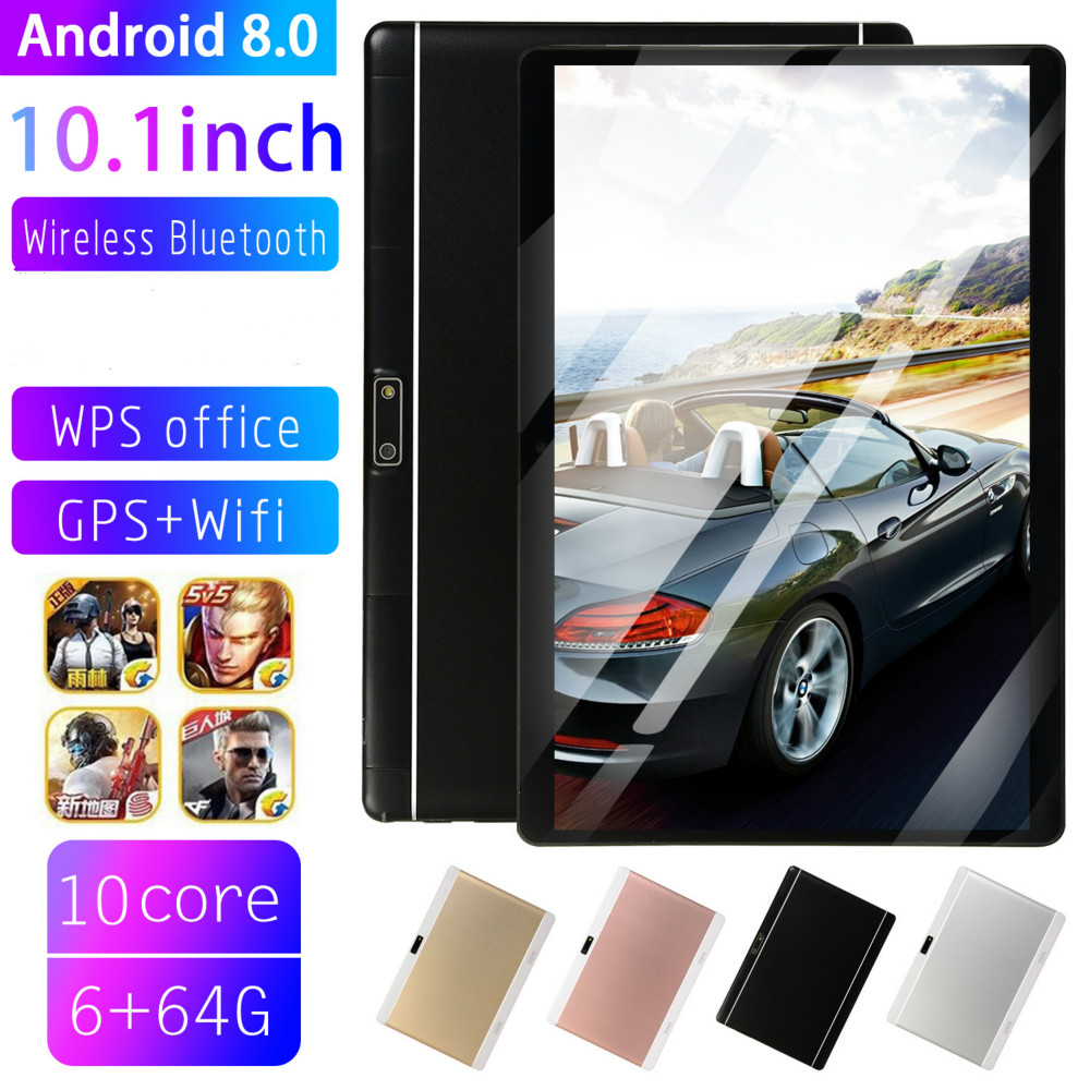 Tablette Phablet 10.1 Tablet Screen Mutlti Touch Android 9.0 Octa Core Ram 6GB ROM 64GB Camera Wifi 10 Inch Tablet 4G FDD