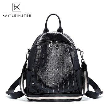 Luxury Genuine Leather Women Backpack Famous Brand Female Crossbody Bags Women Shoulder Bag Fashion Lady Travel Backpack mochila
