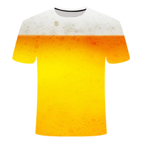 3D Beer Print T-shirt