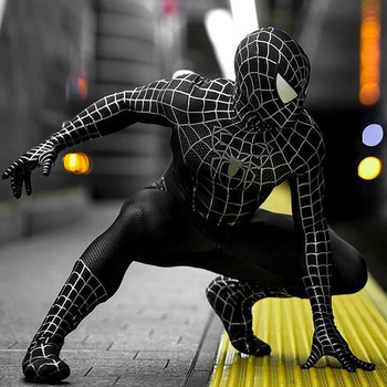 цена Adult kids Black Dark SpiderMan Costume cosplay Superhero Zentai Suit Venom Spiderman Catsuit Men Halloween Costumes Party Fancy онлайн в 2017 году