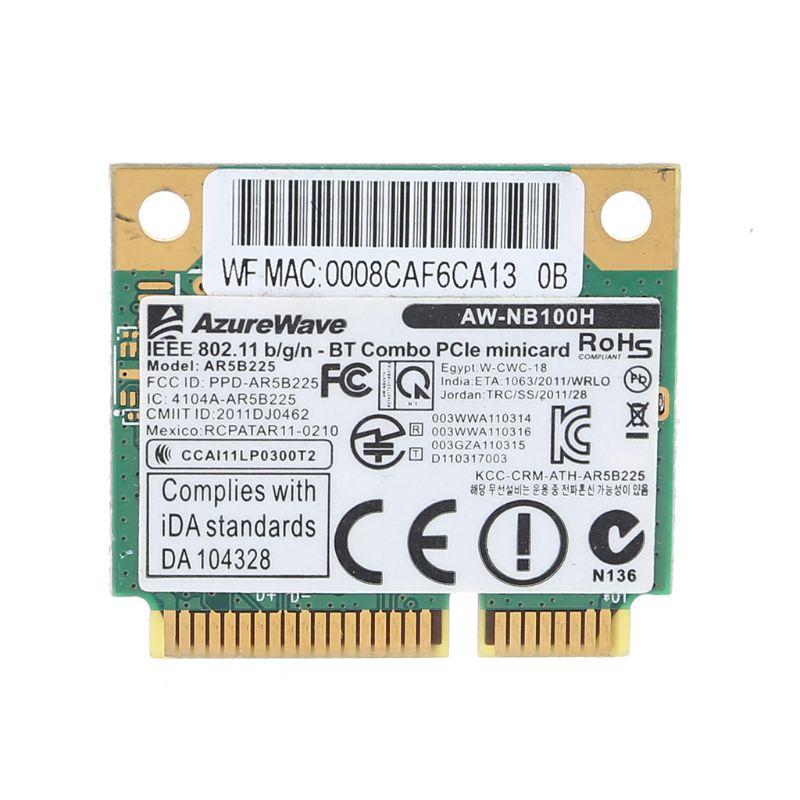 AW-NB097H AW-NB100H AW-NB126H AR9485 AR3012 AR5B225 300Mbps Half Mini PCI-Express BT4.0 Wlan Wireless Wifi Card