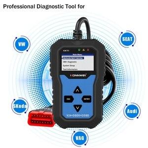 Image 3 - KW350 מקצועי OBD2 סורק אוטומטי קוד קורא עבור פולקסווגן לאאודי עבור סקודה אבחון בדוק מנוע אור סריקת כלי