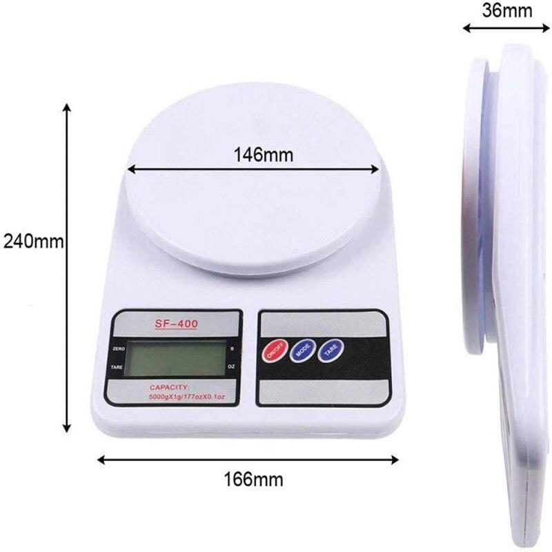 Электронные цифровые весы, 10 кг/7 кг/5 кг/1 кг, 0,1 г, бытовые кухонные весы на платформе, измерительные кухонные весы для выпечки, инструменты для приготовления пищи-3
