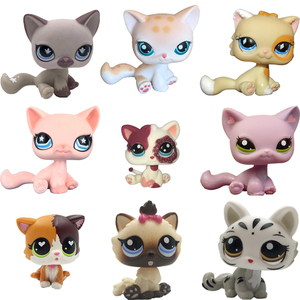 Image 2 - LPS CAT Pet Shop Toys Rare Stands Little Short Hair Kitten Pink #2291 Grey #5 Black #994 Old Original Kitty  Figure Collection
