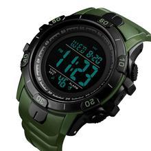 цена на SKMEI Outdoor Sports Digital Watch Men Waterproof Alarm Clock Wristwatch WeekDisplay Multiple Time Watches erkek kol saati 1475