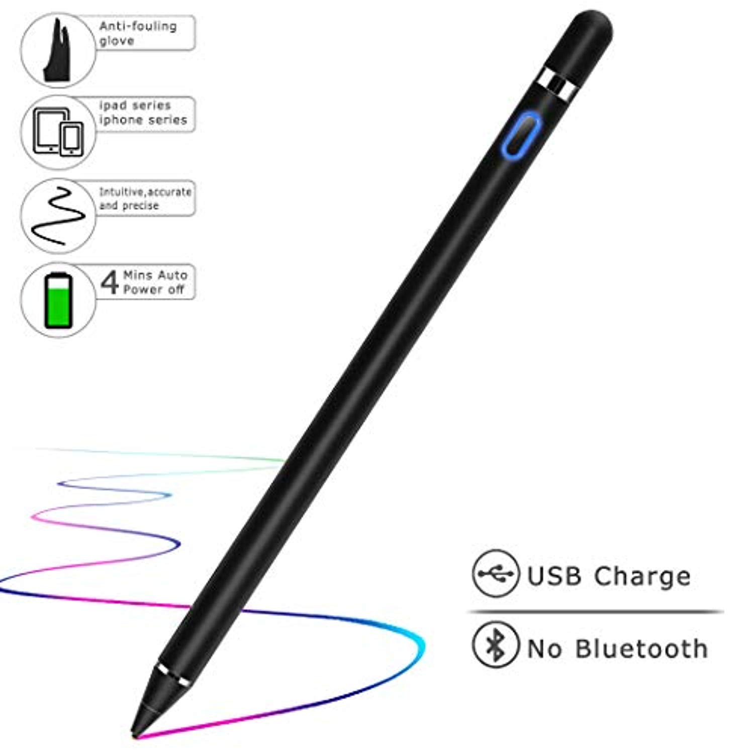 Precision Fine Thin Point Capacitive Touch Screen Stylus Pen For iPhone iPad HS