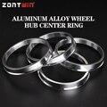 4 stücke Auto Aluminium Legierung Rad Hub Centric Ringe zentrum Bohrung 73 1 57 1 66 6 57 1 73 1 60 1 73 1 67 1 67 1 60 1 73 1 56 1 73 1 54-in Reifen-Zubehör aus Kraftfahrzeuge und Motorräder bei