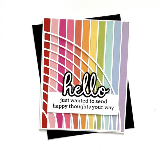 Mot couleur bloc pluie arc fleur matrices de découpe pochoirs en métal pour bricolage Scrapbooking décoration gaufrage carte artisanat nouveau découpé