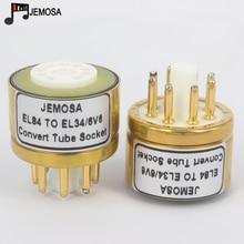 1 adet 6BQ5 6P14 6P15 EL84 TO EL34 6V6 6L6 6L6GT 6P3P 6P6P DIY HIFI ses vakum tüp amplifikatör dönüştürmek soket adaptörü ücretsiz kargo