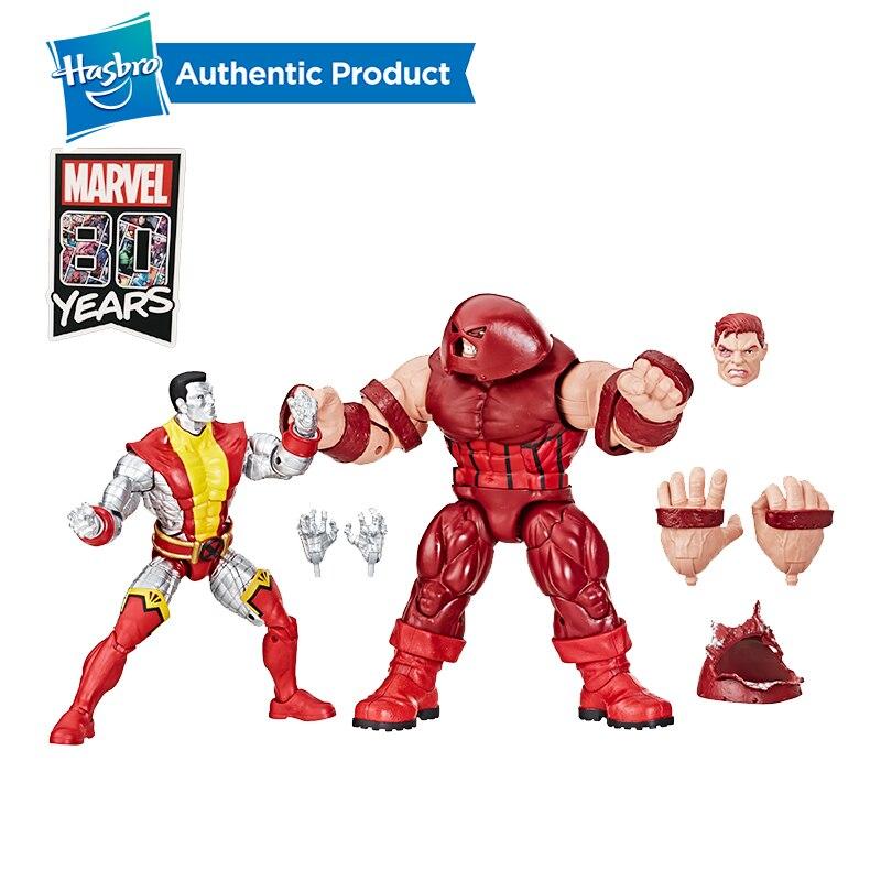 Hasbro Marvel Comics 80th Anniversary Legend Series 6-inch Retro Comic Inspired Colossus VS. Juggernaut Collectible Action