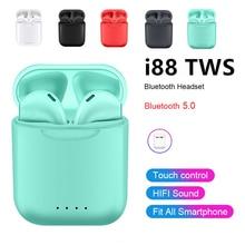 i88 Tws Original Bluetooth 5.0 True Wireless Earphone Mini Touch Sports In-Ear Headset For xiaomi huawei Samsung S10 5G iPhone X