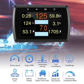 HUD Head Up Display A501C OBD2 On-board Computer For Car Fuel Consumption Temperature Meter Speedometer OBD 2 HUD Display