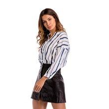 2019 new autumn deep v neck striped shirt raglan long sleeve tops leisure casual female women clothing large size office lady striped trim raglan sleeve jacket