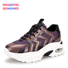 Krasovki Genuines Sneaker Women Fashion Autumn Winter Dropshipping Flat Bottom Breathable Slip Round Toe Cross Tied Causal Shoes