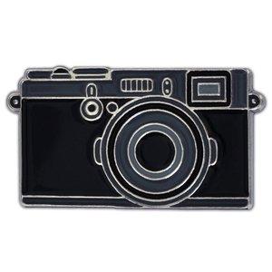 Trendy Black Camera Photography Lover Enamel Lapel Pin Badge Pins