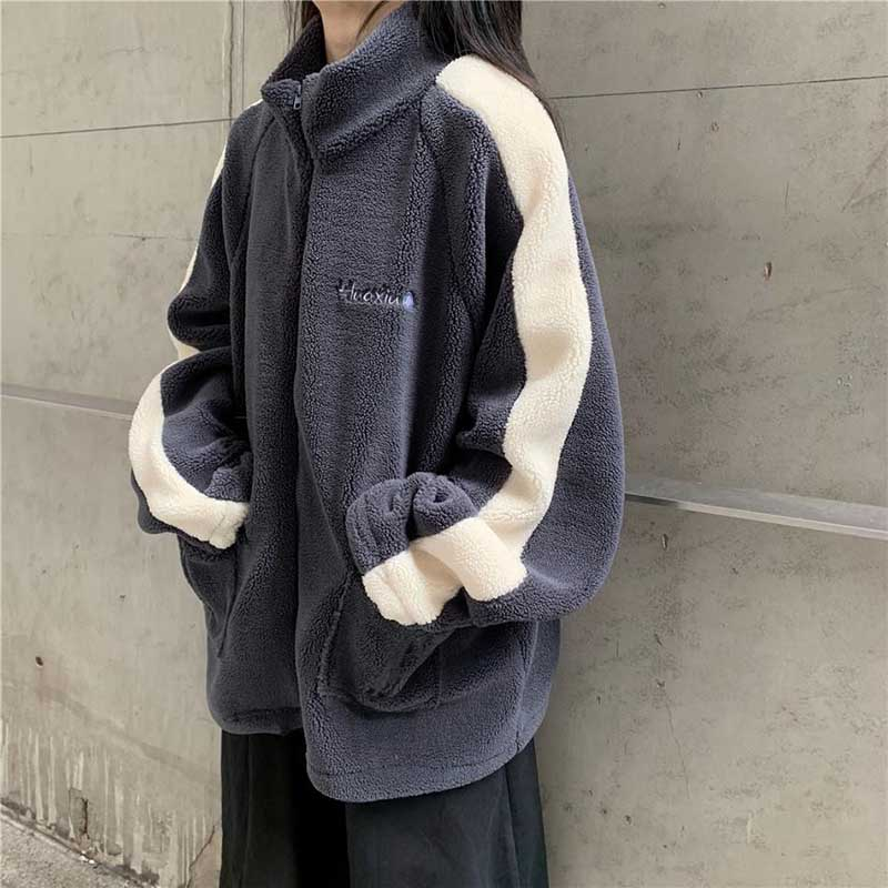 Oversize Women's Clothing Spring Fall Winter New Fashion Patchwork Coats Thick Jackets Ladies Plus Size Streetwear Korean Chic