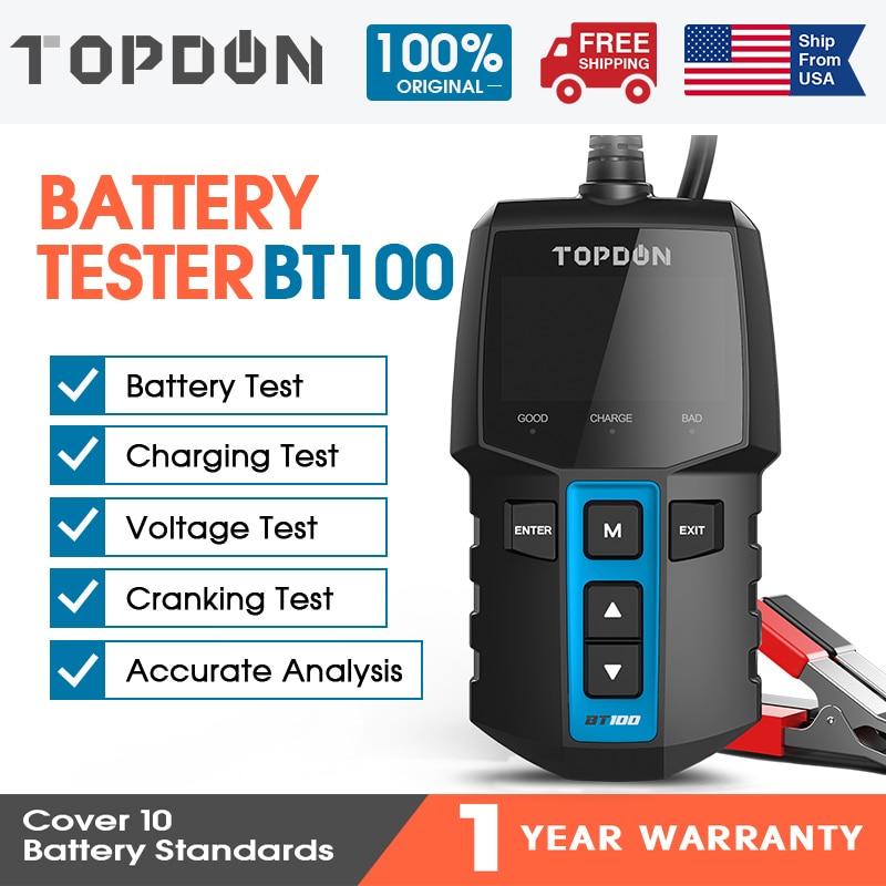 TOPDON 12V автомобильный тест на батарею er автоматический тест на батарею Диагностический прибор 100 до 2000CCA для зарядки автомобиля инструмент для анализатора батарей для автомобиля|Тестеры аккумуляторов|   | АлиЭкспресс