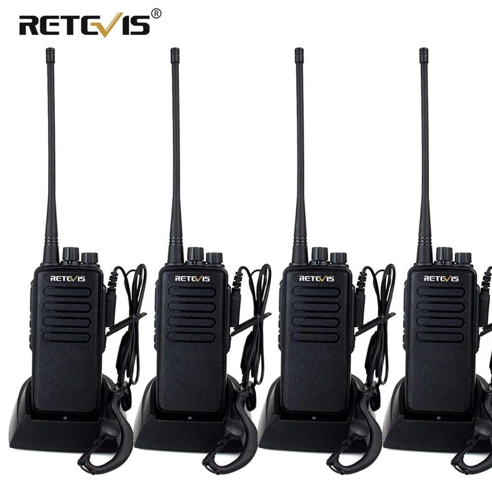 High Power Walkie Talkie 4pcs Retevis RT1 VHF (or UHF) VOX 3000mAh Eight Antenna Two Way Radio With Earpiece Handy Walkie-Talkie