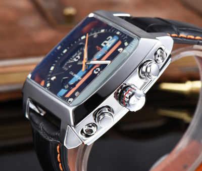 Etiketi erkek saatler Top marka lüks çelik kasa Tourbillon otomatik mekanik İzle erkekler erkek Rolexable kol saati erkek Heuer