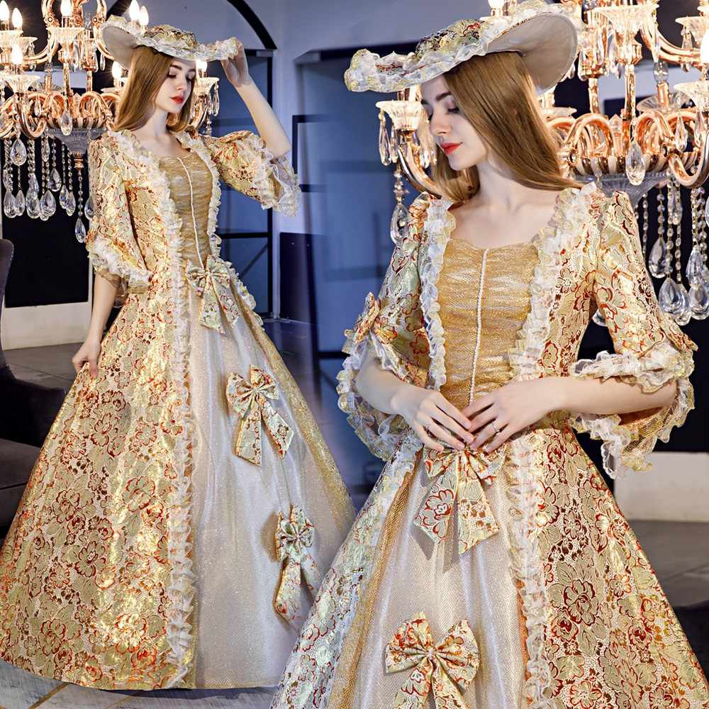 The European Women S Court Dress Show European British Queen Palace Under The Princess Dress Theme Fashion Studio Aliexpress
