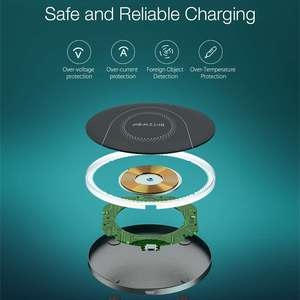 Image 5 - BlitzWolf BW FWC7 Fast Wireless Charger 15W USB Qi Charging Pad for Mobile Phone