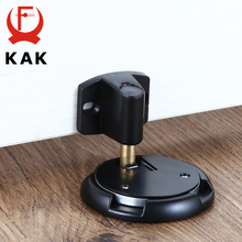 KAK Mechanical Doorstop Nail-free Sticker Zinc Alloy Door Stopper Heavy Duty Door Holder Non-Punch Stop Door Hardware