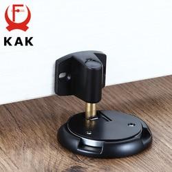 KAK Mechanical Doorstop Nail-free Sticker Zinc Alloy Door Stopper Heavy Duty Door Holder Non-Punch Stop Door Hardware