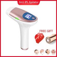 Электрический IPL депилятор, лазерный эпилятор, 3 типа, постоянное безболезненное удаление волос, для лица, тела, подмышек, бикини, домашнее косметическое устройство
