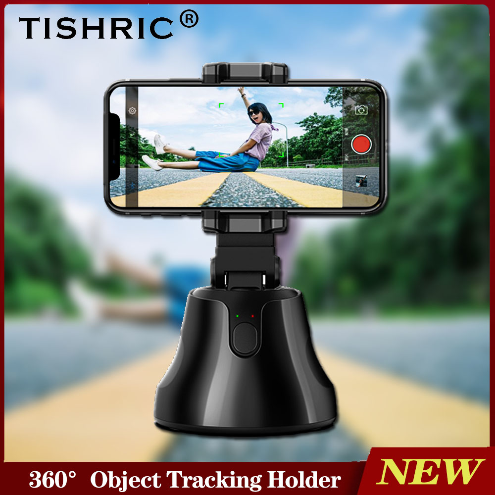 TISHRIC Selfie Stick Bluetooth/Stabilizer 360°Object Auto Face Tracking Holder Camera Phone Holder Not Tripod For Smartphone
