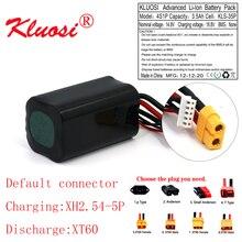 Kluosi 4s1p 14.8v 3.5ah 16.8v bateria de íon de lítio recarregável de alta capacidade uav para vários quadrotor de avião rc etc XH2.54 5P xt60