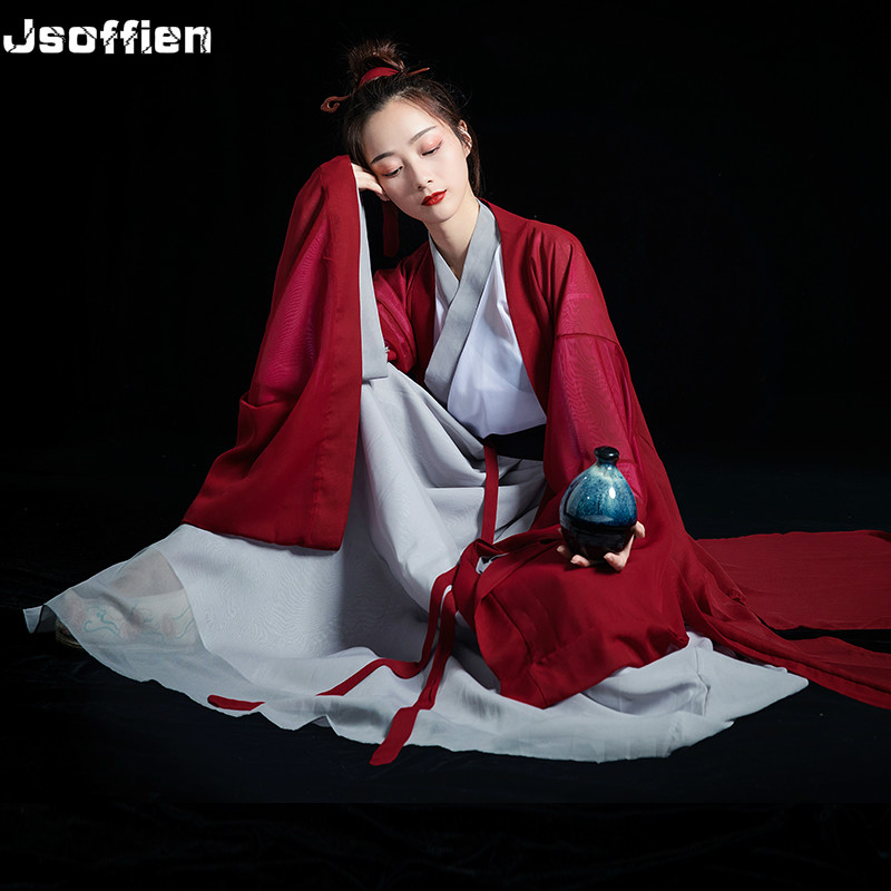 Chinese Ancient Hanfu Costume For Women Traditional Swordsman Cosplay Costume Han Dynasty Stage Dance Clothing Vintage Folk Wear