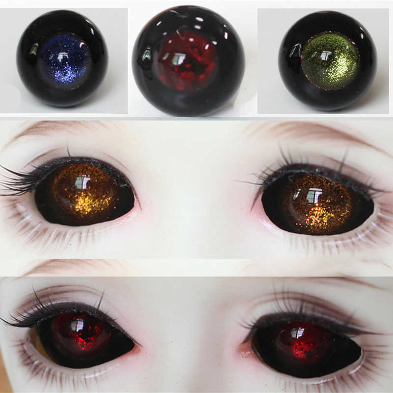 BJD Eyes for Reborn//newBorn Doll Realistic 20mm Round Glass Pink Iris/&BlackPupil