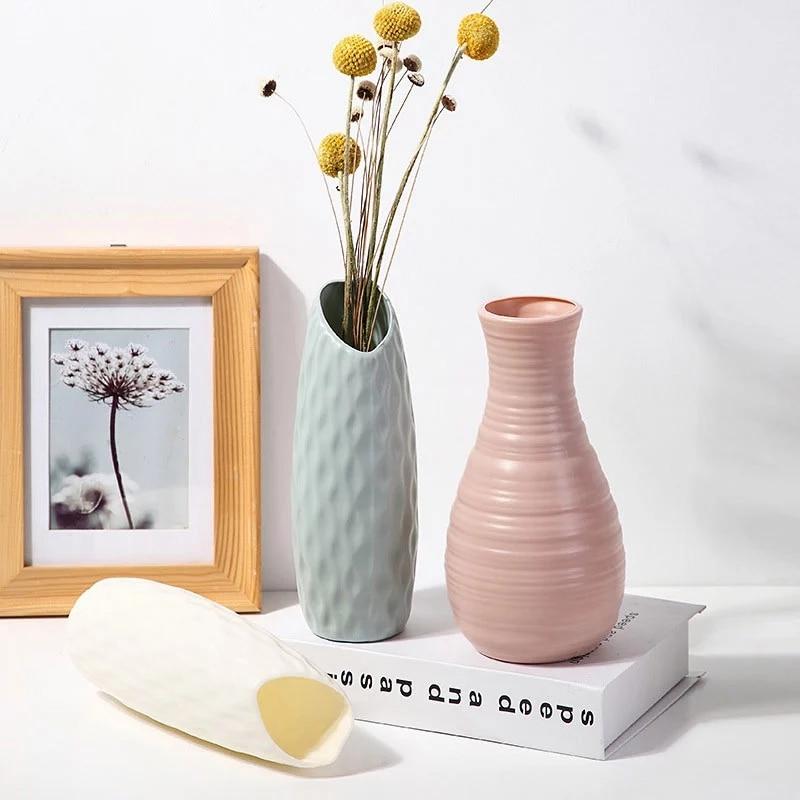 פלסטיק אגרטל עבור נורדי עיצוב עציץ בית סלון קישוט מחוסמת פרח אגרטל Cachepot עבור פרחים מודרני