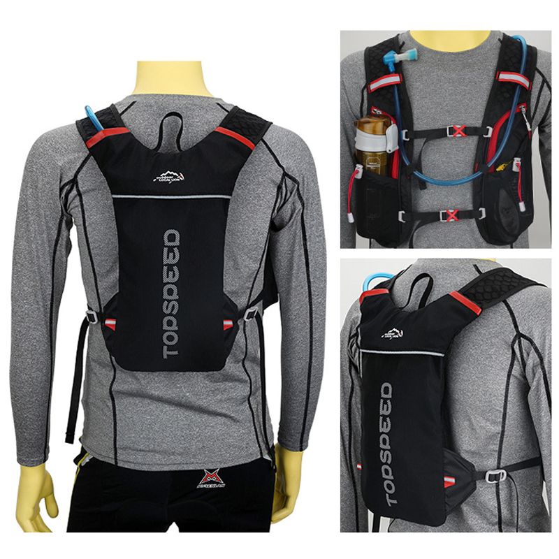 LOCAL LION 5L Waterproof Running Hydration Backpack, Women Men Jogging Sport Backpack ,Trail Running Marathon Bag, No Water Bag