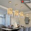 In acciaio inox singola testa di cristallo sala da pranzo camera da letto soggiorno led cross-border luce esclusiva di lusso lampada