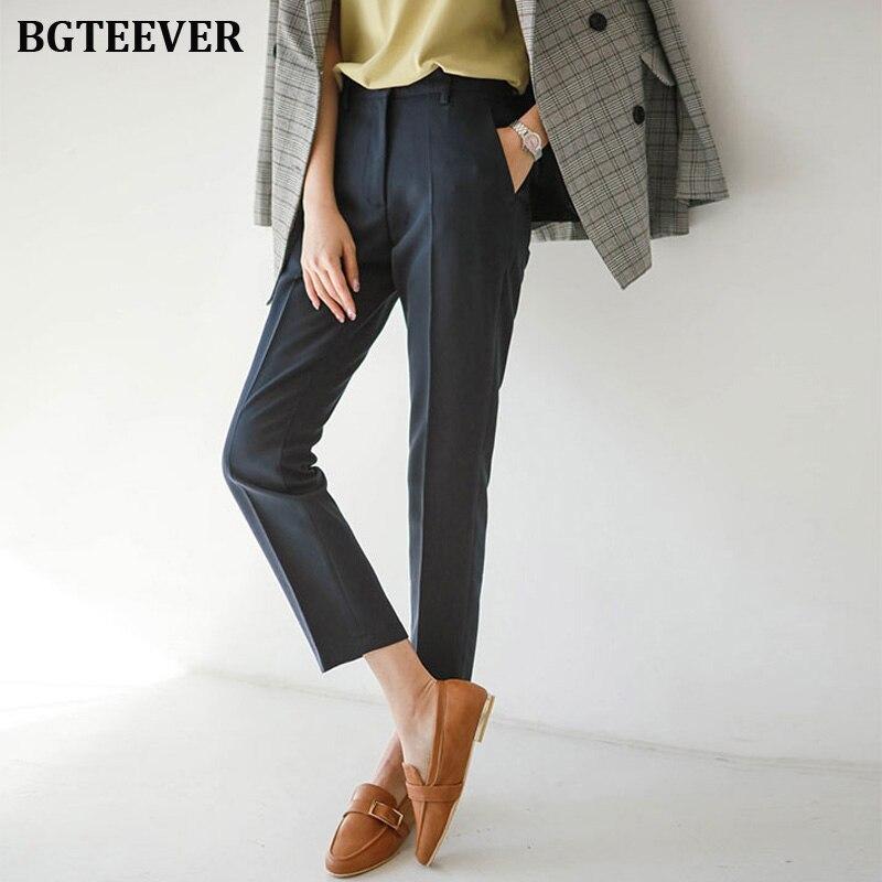Office Ladies Casual Women Pencil Pant High Waist Elegant Work Trousers Women Pants Female Suit Pant Pantalon Femme 2019 Autumn