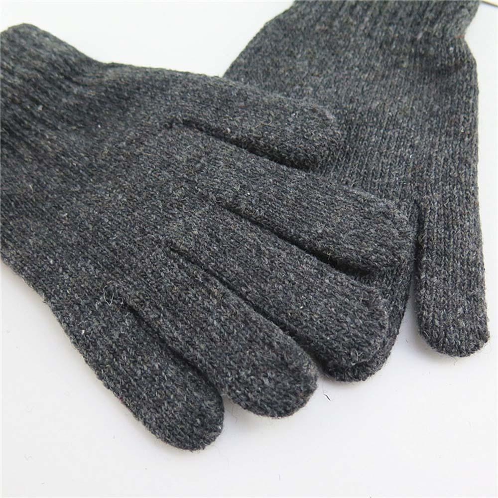 Fashion Winter Men Knitted Gloves High Quality Male Mitten Thicken Warm Wool Cashmere Solid Men Business Gloves Autumn