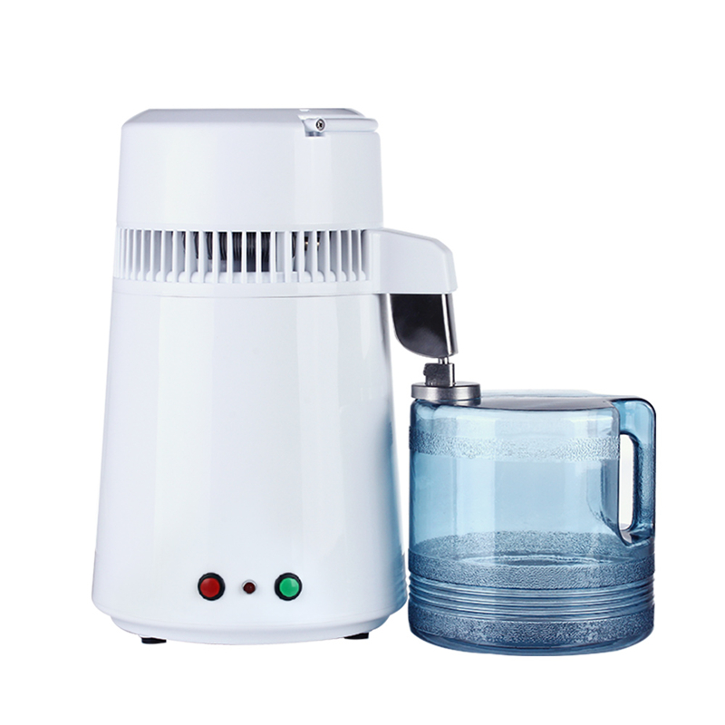 AC110V / 220V Housing Use Pure Water Distiller 4L Distilled Water Machine Distillation Purifier Stainless Steel Water Filter image