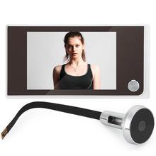 Цифровая дверная камера, камера 3,5 дюйма с углом поворота 120°, дверной глазок
