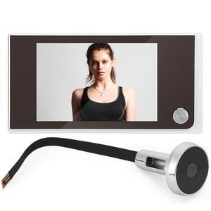 Image 1 - 3.5 inç Video peephole dijital kapı kamera kapı zili 120 derece açı Peephole görüntüleyici video göz kapı kapı zili açık kapı zili