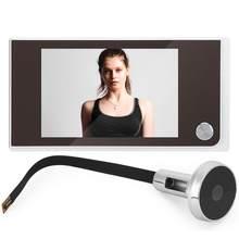 3.5 polegada de vídeo olho mágico digital porta câmera campainha 120 graus ângulo olho mágico espectador vídeo campainha da porta ao ar livre campainha
