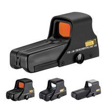 Mira telescópica HD resistente al agua, dispositivo de visión de punto rojo/Verde ajustable, antivibración, película roja/551/552 holográfica, suministros de caza
