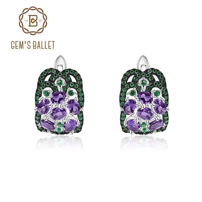 bijou pierres gemmes fines boucles doreilles violettes amethyste Boucles doreilles pierres naturelles bijou amethyste fait main
