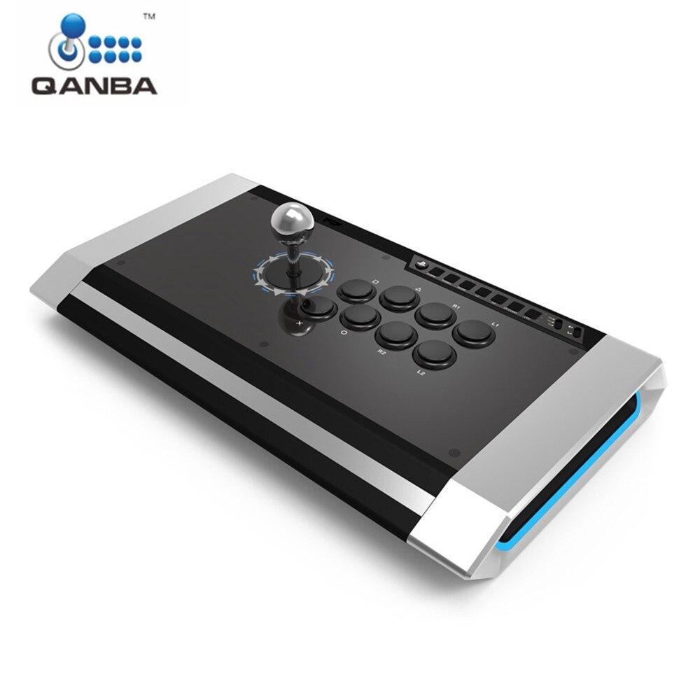 Manette obsidienne Qanba Q3 PS4-01 pour PlayStation 3/4 et manette de jeu professionnelle PC
